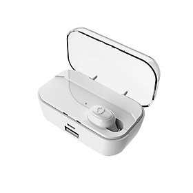 Wireless Bluetooth 5.0 Headphones Mini Invisible Earphone In-ear Music Headset Charging Box Hands-free With Mic