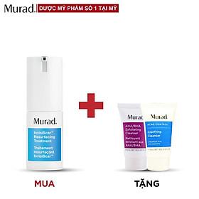 Kem vô hình hóa sẹo & thâm mụn Murad InvisiScar Resurfacing Treatment TẶNG Srm AHA/BHA Cleanser 15ml + Clarifying Cleanser 15ml