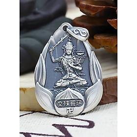 Mặt Dây Chuyền Bạc Phật Bản Mệnh Văn Thù Bồ Tát