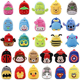 Cartoon Kids Boys Girls Plush Backpacks Baby Cute Children School Bags