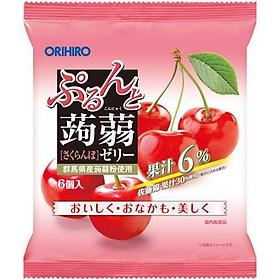 Combo 6 gói Thạch trái cây Orihiro vị Cherry 120gr