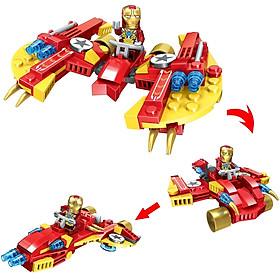 Đồ chơi giáo dục thông minh - xếp hình Lego - đồ chơi mô hình lắp ráp - mô hình siêu nhân người nhện và người sắt cho bé sáng tạo