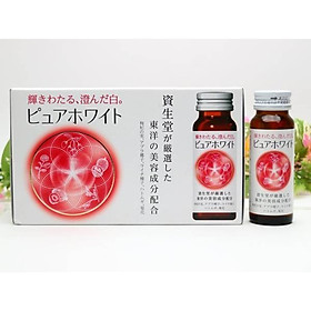 Nước uống trắng da mờ thâm nám Pure White Shiseido Nội địa Nhật Bản - Tặng túi zip 5 kẹo mật ong