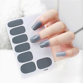 Bộ 12 nhãn dán trang trí móng tay chống thấm nước phong cách Hàn Quốc