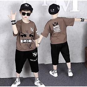 Bộ đồ bé trai đồ bộ đùi bé trai hàn quốc cho bé 5-14 tuổi đồ bộ bé trai mùa hè chất cotton mát mẫu mới