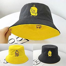 Mũ bucket thêu con vịt siêu dễ thương, đội được 2 mặt độc đáo Hạnh Dương