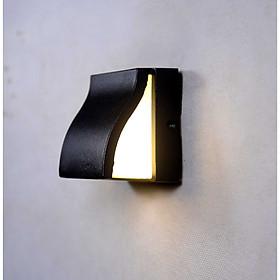 Đèn gắn tường ngoài trời hiện đại cong vát hắt 1 đầu.