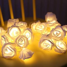 Dây Đèn LED Hoa Hồng Cỡ Lớn Nhiều Màu Trang Trí Tiệc Cưới, Quà Tặng - 1.5 mét 10 hoa