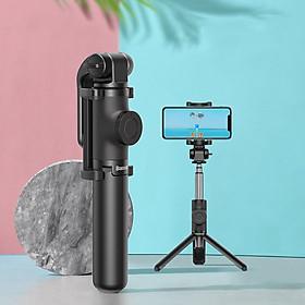 Gậy chụp hình ảnhselfie đa năng2 in 1 kèm remote bluetooth không dâyhiệu Baseus Lovely Bluetooth (nhiều mức thay đổi độ dài, remote không dây, bật 3 chân như tripod, thiết kế thời trang) - Hàng nhập khẩu
