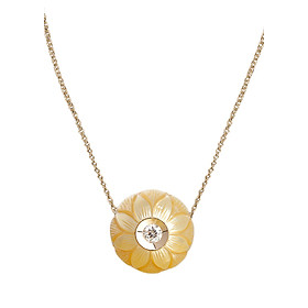 Dây Chuyền Galatea Jewelry Carved Pearl 9003.04YG - Vàng