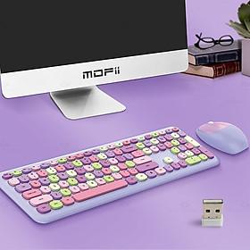 Bộ bàn phím và chuột không dây Mofii 666 Màu hỗn hợp 2.4Ghz Combo 110 phím