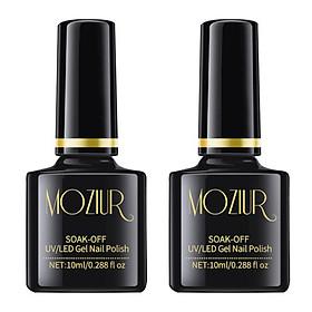 10ml Top Coat & Base Coat Nail Gel Set Natural & Long Lasting Soak Off UV LED Nail Polish