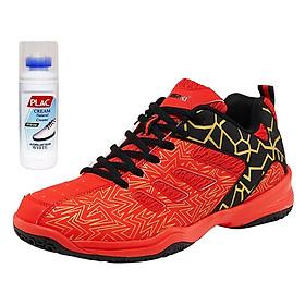 Giày cầu lông Kawasaki chính hãng K075 màu đỏ - Kèm bình làm sạch giày cao cấp
