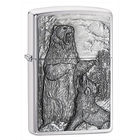 Bật Lửa Zippo Bear vs. Wolf 29636