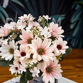 Nhánh hoa cúc cổ điển giả 21 đầu bông nhiều màu