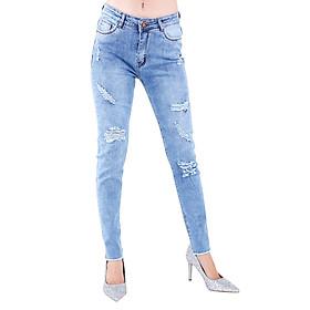 Quần Jeans Nữ Rách Không Gấu JNT007 - Sáng