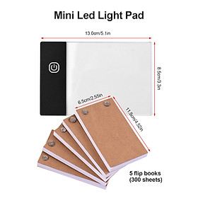 Flip Book Kit with Light Pad LED Light Box Tablet 300 Sheets Drawing Paper Flipbook with Binding Screws for Drawing