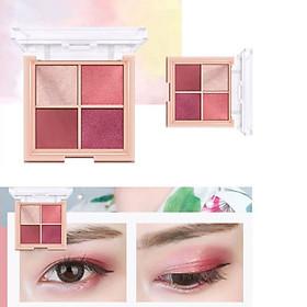4-color Three-dimensional Eye Shadow Waterproof Smudge-proof Matte Shimmer Eyeshadow Palette