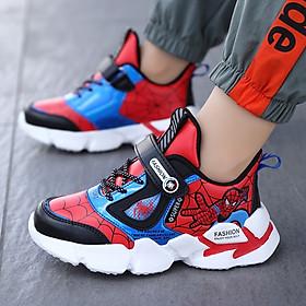 Giày siêu nhân spiderman bé trai 3 - 15 tuổi phong cách sneaker năng động và khỏe khoắn GE73