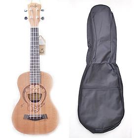 Đàn Ukulele Concert gỗ hình Đôrêmon (tặng kèm bao đựng, sách học, phím gảy)