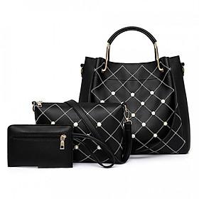 Hình đại diện sản phẩm Handbag Tote Bag Fashion 3 Pcs/Set PU Casual Messenger Bag