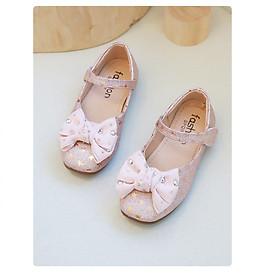 Giày búp bê đế mềm đính nơ cho bé gái BB07