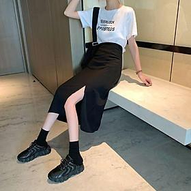 Chân Váy Midi Skirt Xẻ Tà ĐÙI SÂU