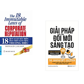 Combo 2 cuốn sách: 18 Quy Luật Bất Biến Phát Triển Thương Hiệu + Giải Pháp Cho Đổi Mới Và Sáng Tạo