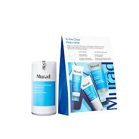 Bộ sản phẩm Gel dưỡng ẩm ngừa mụn Clarifying Oil-Free Water Gel và set chăm sóc da dầu mụn In the clear Murad