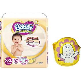 Tã Dán Bobby Extra Soft Gói Đại XXL24 (24 Miếng) - Tặng túi đeo chéo