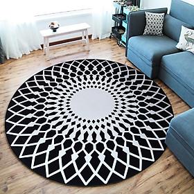 Modern Simple Round Carpet Rug Door Mat Living Room Bedroom Anti-Slip Floor Rug Mat Home Decoration