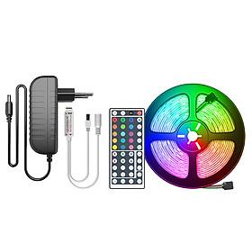 Cuộn Đèn LED Trang Trí Quấn Cây RGB Siêu Sáng, Dài 5M Kèm Remote 44 Phím