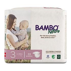 Thùng Tã Dán Em Bé Hữu Cơ Bambo Nature - gốc Đan Mạch - 4-9kg - M33 - 6 gói-1