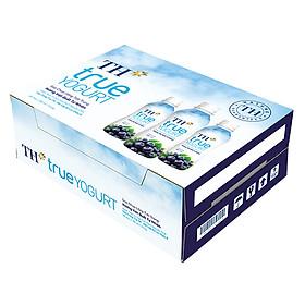 Thùng Sữa Chua Uống Tiệt Trùng Hương Việt Quất TH True Yogurt 180ml x 48 Chai