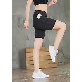 Quần tập yoga, gym, thể thao nữ ngắn phối lưới hàng cao cấp - A11