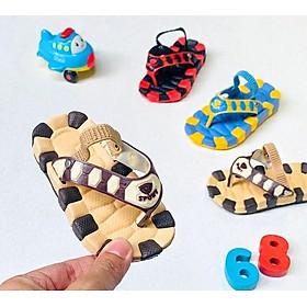 Dép Kẹp Trẻ Em cho bé 1-3 tuổi nhẹ mềm êm chân Siêu Cưng (có quai hậu)