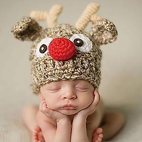 Mũ handmade tạo hình Tuần lộc dễ thương cho bé yêu