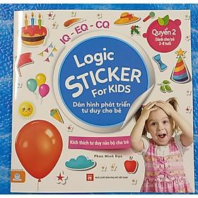 Logic Sticker for kids - Dán hình phát triển tư duy cho bé - quyển 2