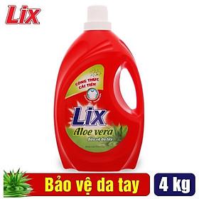 Nước Giặt Lix Nha Đam Aloe Vera 4Kg NG400 - Bảo Vệ Da Tay