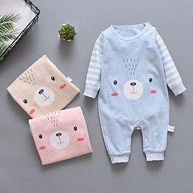 Baby Girl Boy Crawling Jumpsuits Cute Pattern Cotton Piece Clothes