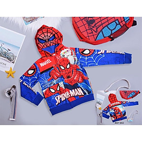 Áo khoác người nhện Spiderman cho bé cân nặng 12kg đến 45kg