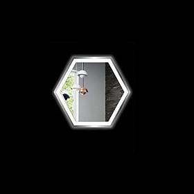 Gương đèn Led nhà tắm - Hình lục giác