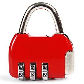Companion line code lock travel travel anti-theft luggage lock backpack padlock gym lock mini drawer lock red BL4002