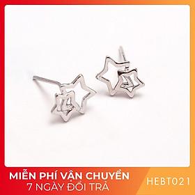 Bông hoa tai nữ bạc s925 cao cấp HEBT021 BH trọn đời