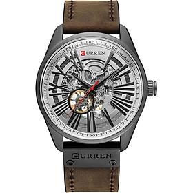 CURREN 8299 Men Watch Brand Mechanical Tourbillon Watch Wristwatch Calendar Leather Automatic Self-wind Sports Clock