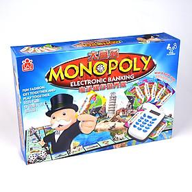 Cờ Tỷ Phú Monopoly Có Máy ATM Electronic Banking Tính Tiền Tự Động Quẹt Thẻ Bản New