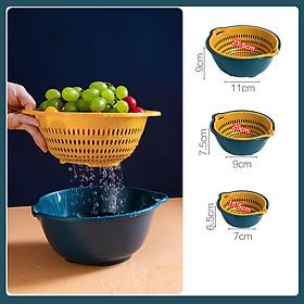 Set 3 bộ rổ chậu 6 món  nhà bếp đa năng - đựng rau sống, hoa quả, đồ dùng nhà bếp