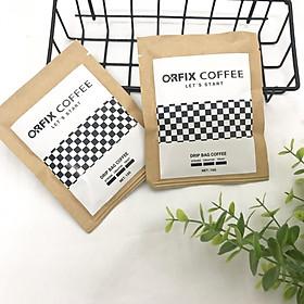 Cà phê phin lọc giấy ORFIX COFFEE - Hiện đại - Tiết kiệm - An toàn, năng lượng tích cực cho tuổi trẻ, đóng hộp 10 gói x 15g/gói cà phê xay nguyên chất.