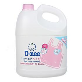 Dung Dịch Giặt Quần Áo Cho Bé D-Nee - Chai 3000ml (Hồng)
