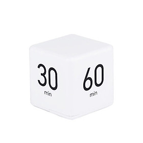 Portable Cube Timer Digital Kitchen Timer Countdown Alarm 15-20-30-60 Minutes Flip Timing with Digital Display Time